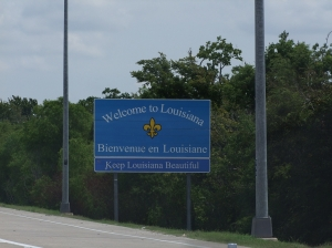 24AUG Louisiana State Sign