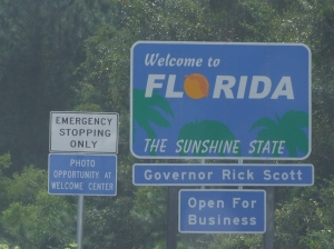 25AUG Florida State Sign
