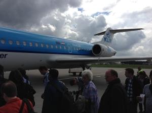KLM F70 rear