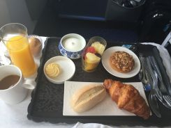 Our breakfast on the flight to Amsterdam