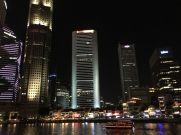 Singapore river with Skyline