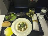 Starter during the dinner on our flight