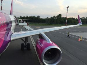 Wingview during the boarding