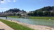 Salzburg Am Fluss Salzach 1