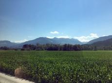 Fahrt über Grießenpass Berge 2