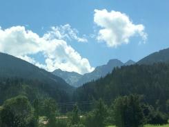 Fahrt über Grießenpass Berge 5