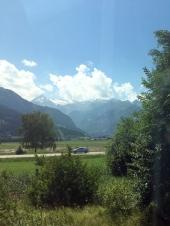 Fahrt über Grießenpass Berge 7