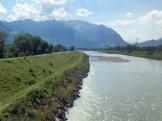 Fahrt nach Zürich 5a in Liechtenstein Rhein